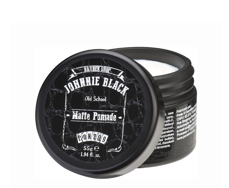 Pomada Matte Pomade Johnnie Black – para Barba, Cabelo e Bigode