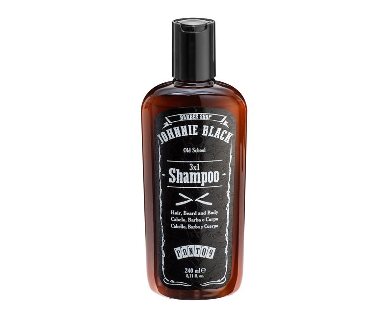 Shampoo 3×1 para Cabelo, Barba e Corpo Johnnie Black